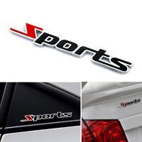 Sports Emblem Badge Chrome Metal Car Sticker Logo 3D Decal Auto Deco Word letter