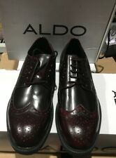 Aldo Tainter Burgundy Leather Dress Lace Up Wingtip Oxford 43  10 D  $110