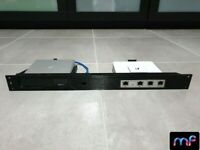 "Ubiquiti UniFi rackmount bracket for USG and Cloud Key Gen2 Plus in 19"" 1U rack"
