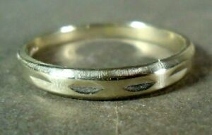 14K White Gold Men's Band Ring by Tradition, 3.5 grams, Size 12.5