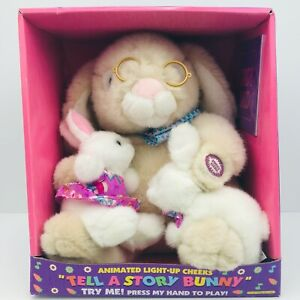 """Dan Dee 11"""" Plush Lighted Animated Reading Talking Candyland Book Easter Bunny"""