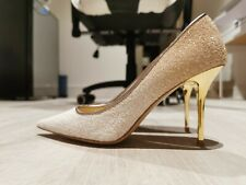 Brand New JIMMY CHOO LOVE 85 gold/white shoes  women pumps Size38