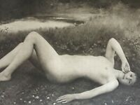 ANTIQUE PRINT 1901 FLOREAL BY RAPHAEL COLLIN FRENCH NUDE PAINTING NUDES ART