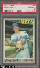 1970 Topps #183 Jerry Grote New York Mets PSA 10 GEM MINT