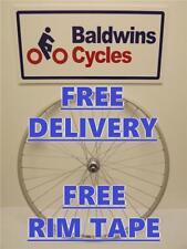 700c REAR NARROW HYBRID / ROAD Bike / Cycle Wheel - Alloy Rim & Alloy Hub