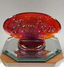 FENTON LOGO SIGN Ruby Carnival 90th ANNIVERSARY 1995 OVAL 9499RN FREE USA SHIP