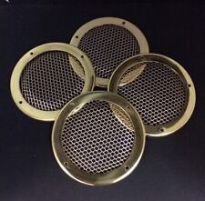 cruiser canal boat river Set of 4 Brass round grills narrow boat.