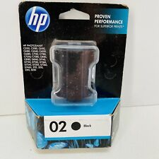 New-Genuine HP 02 Black Ink Photosmart 3110 C5140 C5150 C6100 8230 8250-oldstock