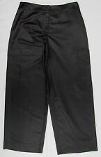 Eileen Fisher Pants 100% Silk slacks Trousers Black Womens Size M