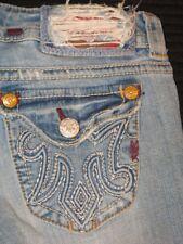MEK Jeans Women Capetown Low Bootcut Distressed Sz 27