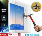 2x Clear Tempered Glass Screen Protector For Ipad 9.7 5 6 7 8th Gen 10.2 Air 3 4