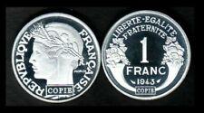 Pièces de monnaie françaises de 1 franc 1 francs qualité FDC