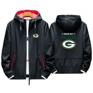Hot! Green Bay Packers Hoodie Sporty Jacket Coat spring Autumn Tops Team Race