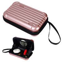 Pocket mini  clutch bag  Makeup Overnight Travel Carrying Cosmetic Hard Bag