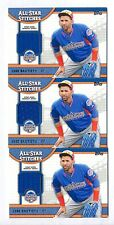 JOSE BAUTISTA 2013 TOPPS ALL-STAR STITCHES GAME USED WORKOUT JERSEY