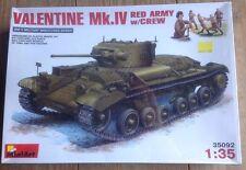 MiniArt 1/35 35092 WWII Valentine Mk.IV Red Army w/Crew New Sealed