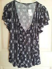 Jacqui E Polyester Cap Sleeve Regular Tops & Blouses for Women
