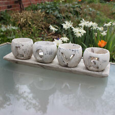 Rustic Distressed 'LOVE' tealight Candle Holder lighting gift distressed