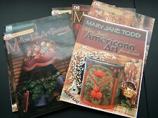 Tole Decorative Painting Books Mary Jane Todd Mellow Folk Art Lot of 6