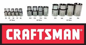 new - Craftsman External Female Torx Socket - 1/4, 3/8, 1/2 drive  you pick size