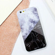 Marble Pattern Hard Plastic Back Case Shockproof Cover For iPhone 5 6 7 8 Plus X