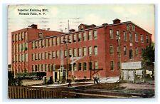 Superior Knitting Mill Hoosick Falls NY Rensselaer County 1920 Postcard D5