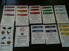 NFL Monopoly Property cards- as pictured scrapbooking card making