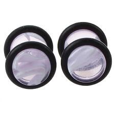 Pair Fake Cheater Ear Stretcher Expander 16G Stem Plug Stud Earring---Light N1G6