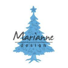 Marianne CREATABLES troquelado plantilla Tiny de árbol de Navidad decorado LR0491