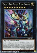 EXFO-ENSE4 Galaxy-Eyes Cipher Blade Dragon Super Rare Limited Edition Mint YuGiO