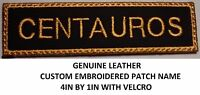 **Love it or Its Free** Custom Embroidered Name on Genuine Leather