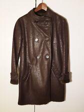 Abrigo GERARD DARELcruzado, piel sintética, forro de pelo, marrón. Talla:38