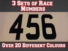 """3 conjuntos de 11"""" 280 mm Custom Race Números Pegatinas De Vinilo Calcomanías MX Motocross Bici N33"""