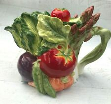 Fitz and Floyd Le Marche Classics Vegetable Teapot with Lid