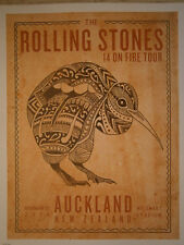 Rolling Stones 2014 lithograph poster 14 on fire tour Aucland-New Zeland