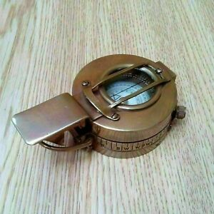 BRASS COMPASS BRITISH MILITARY ANTIQUE COMPASS MARK PRISMATIC COMPASS