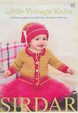 Sirdar Little Vintage Knits Snuggly Baby Bamboo  DK Book 405 Patterns 0-7 years