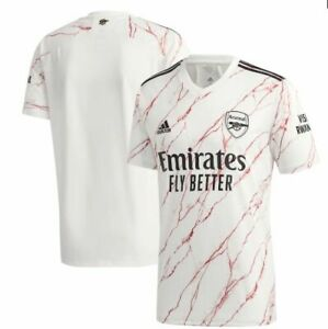 adidas Arsenal FC 2020- 2021 Away Soccer Jersey Brand New Marble White Red