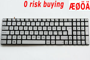For Asus N551J N551JK N551JQ N551JX N751J N752VX Keyboard Nordic Swedish Backlit