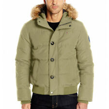 TOMMY HILFIGER MENS JACKETS HOODY BOMBER SNORKEL faux fur...