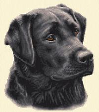 BLACK LABRADOR RETRIEVER dog - complete counted cross stitch kit