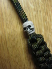 Tactical Knife Lanyard Woodland Camo w/ Skull FREE S/H