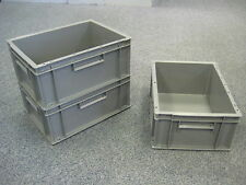 5 New Grey Storage Crate Container 15L