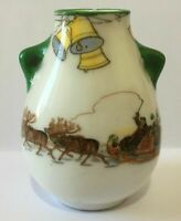 Antique Royal Doulton Christmas Santa Clause Miniature Vase c1900s