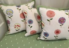 Decorative Throw Pillow Covers Multi-Colored Floral Lot Of 4 Custom Made