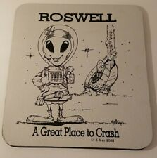 MOUSE PAD ROSWELL NM UFO ALIEN AREA 51 SOUVENIR COLLECTIBLE