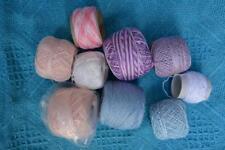 NEW Vintage Coats Mercer 20 CROCHET COTTON 9 x New/Part Balls. Multi Colours