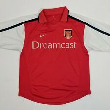 ARSENAL LONDON 2000/2001/2002 Dreamcast HOME FOOTBALL SHIRT SOCCER JERSEY NIKE M