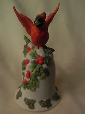 "Vintage 1996 ""Bernini"" Mann Christmas Bell With Cardinal - Pretty - Euc"