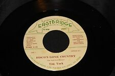 Tim York Discos Gone Country b/w Texas Wont Let Me 45 From Co Vault Unopen Box *